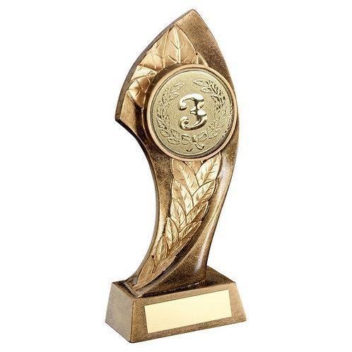Centre Holder With Twisted Leaf Trophy - 222 mm