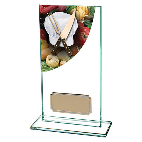 Colour Curve Cooking Jade Glass Award - 160mm