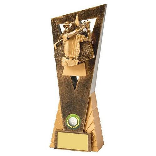 Antique Gold Male Golf Edge Award - 230mm