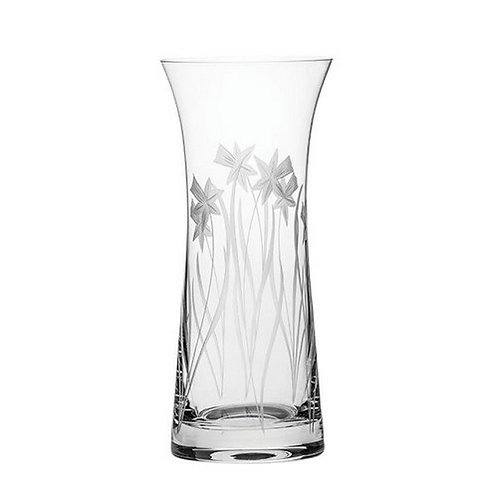 Royal Scot Crystal | Daffodils | Lily Vase | 230mm  | Free Engraving