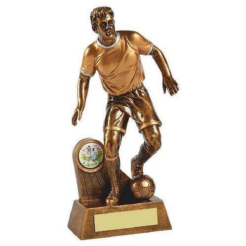 Antique Gold Male Football Resin - 215mm