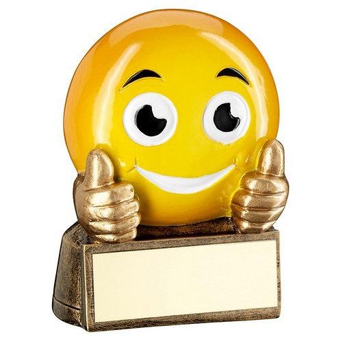 Brz/Yellow 'Thumbs Up Emoji' Figure Trophy - 70 mm