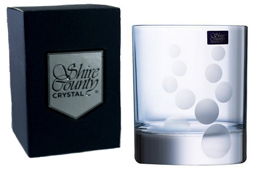 Shire County Crystal Cornwall | Bubbles Design | Whisky Tumbler 30cl | Gift Box