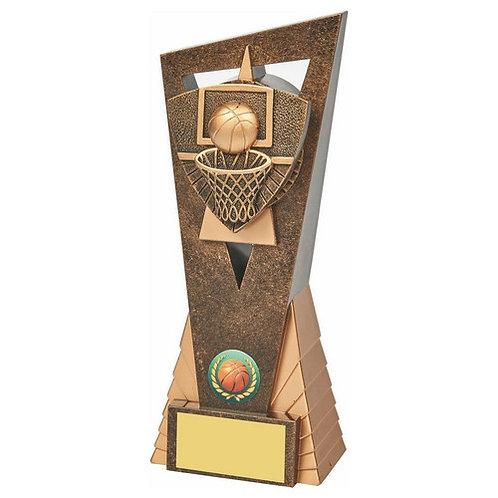 Antique Gold Basketball Edge Trophy - 210mm