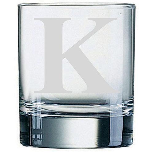 Dartington Crystal Initial Tumbler   Letter K   Boxed   Free Engraving