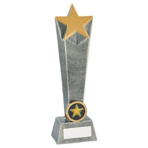 Antique Silver Resin Star Column - 210mm