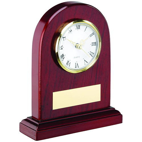 Arched Wooden Clock Trophy - 152 mm