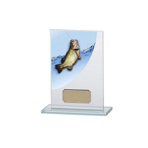 Colour Curve Angling Jade Glass Award - 140mm