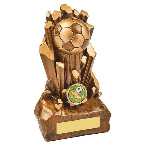 Antique Gold Resin Football Award - 180mm