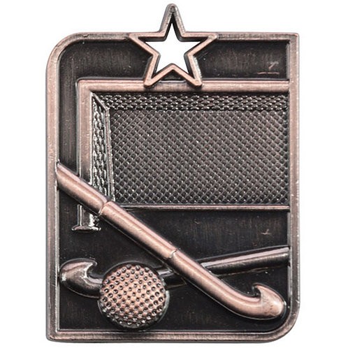 Centurion Star Series Hockey Medal Bronze - 53x40mm