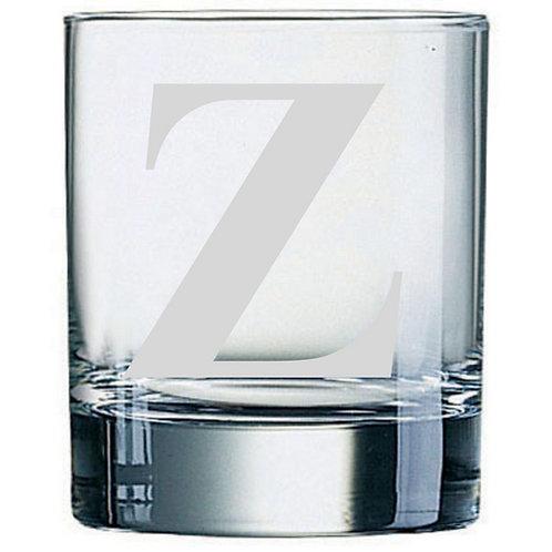 Dartington Crystal Initial Tumbler | Letter Z | Boxed | Free Engraving