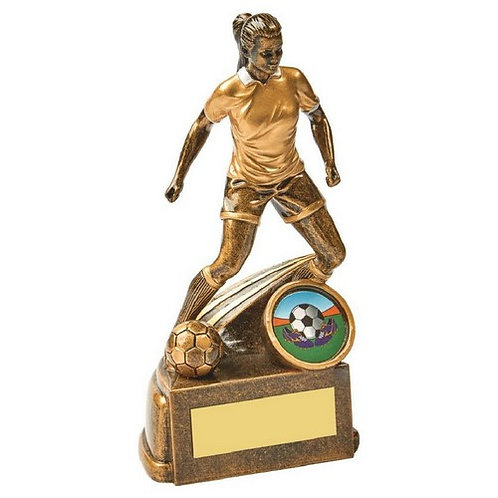 Antique Gold Female Football Resin - 150mm