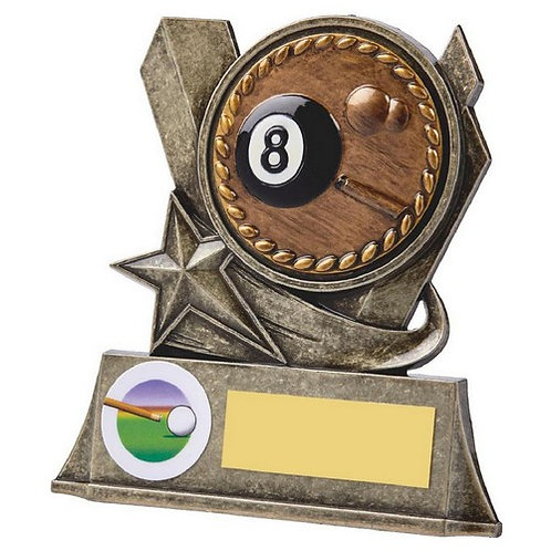 Antique Gold Metal Stand - 8 Ball Pool - 100mm