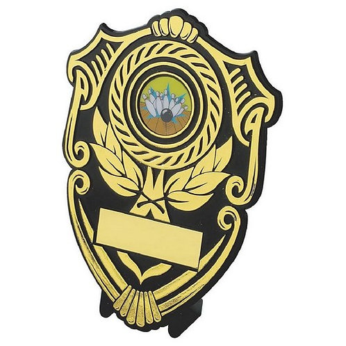 Black Plastic Shield Award - 140mm