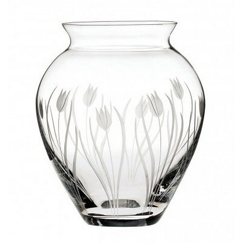 Royal Scot Crystal | Wild Flowers | Tulip Extra Large Posy Vase | 180mm