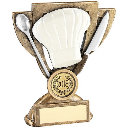Brz/White/Silver Cooking Mini Cup Trophy - 127 mm