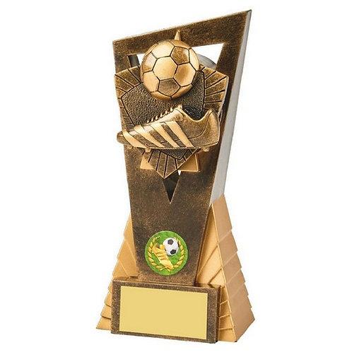 Antique Gold Boot/Ball Football Edge Trophy - 180mm