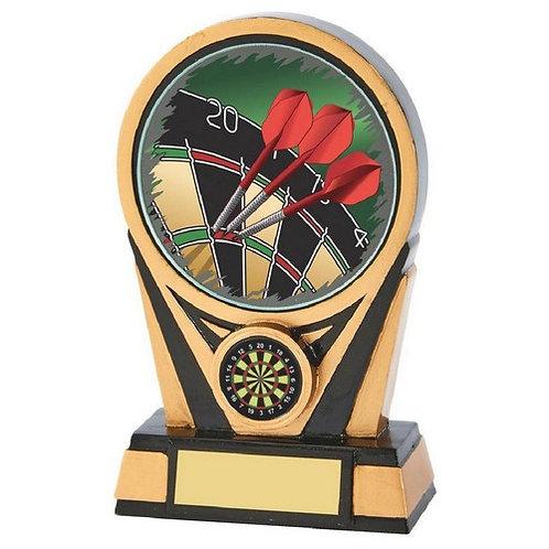 Black/Gold Resin Darts Trophy - 150mm