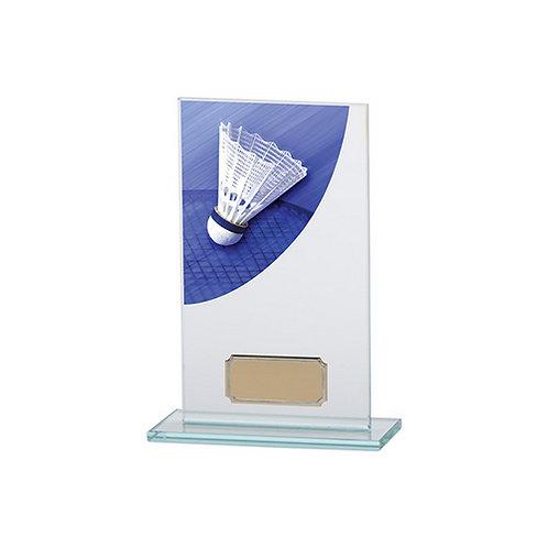 Colour Curve Badminton Jade Glass Award - 160mm