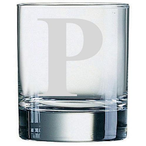 Dartington Crystal Initial Tumbler | Letter P | Boxed | Free Engraving