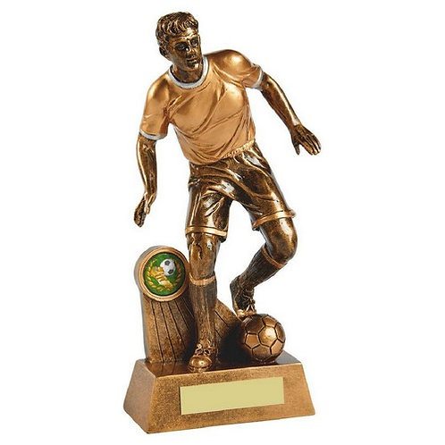 Antique Gold Male Football Resin - 240mm