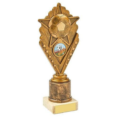 Antique Gold Star Football Award - 215mm