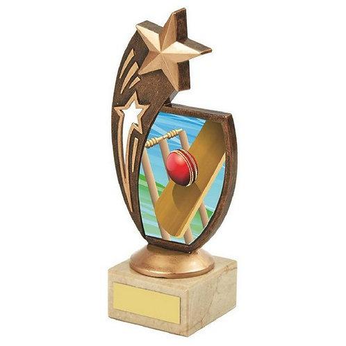 Antique Gold Cricket Star Award - 185mm
