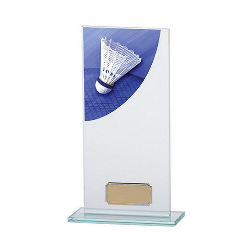 Colour Curve Badminton Jade Glass Award - 200mm