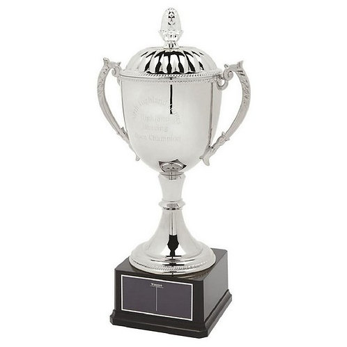 Classic Nickel Plated Cup with Lid - 500mm