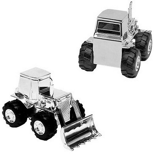 Money Box | Front Loading Digger | Silverplated  | Free Engraving