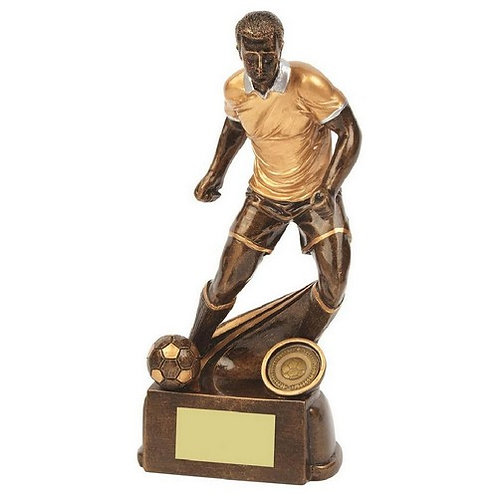 Antique Gold Male Football Resin - 220mm