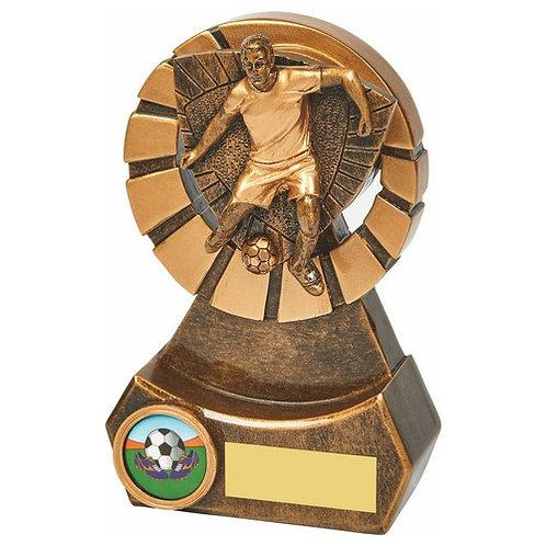 Antique Gold Male Footballer Resin - 140mm