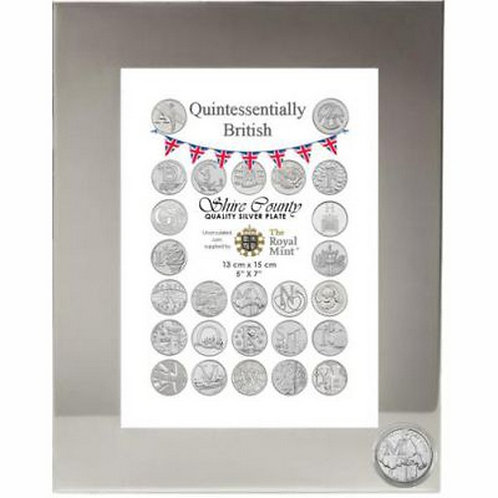 Photo Frame with British Coin | Mackintosh | Letter M | Free Engraving