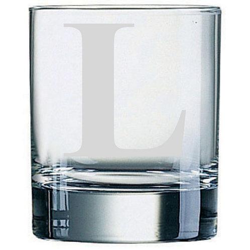 Dartington Crystal Initial Tumbler | Letter L | Boxed | Free Engraving