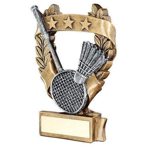 Badminton 3 Star Wreath Award Trophy - 159 mm