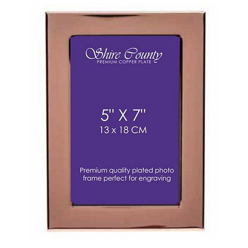 """Personalised Copper Plated Photo Frame 
