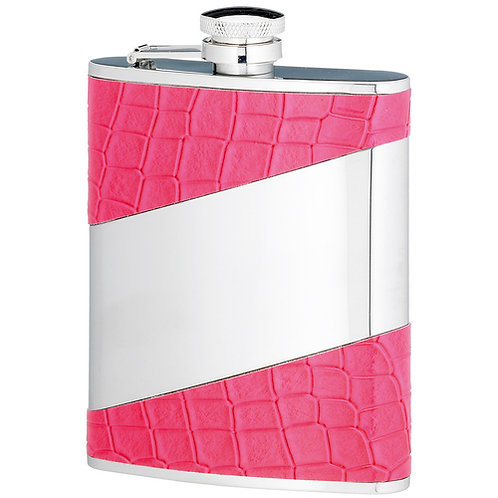 Pink Stainless Steel Flask | 6oz | Free Engraving