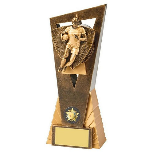 Antique Gold Male Rugby Player Edge Award - 210mm