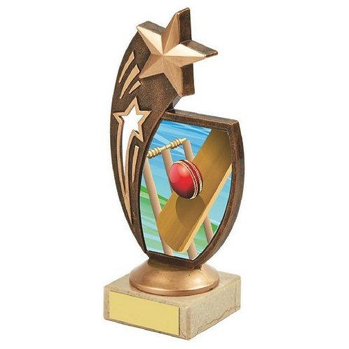 Antique Gold Cricket Star Award - 170mm