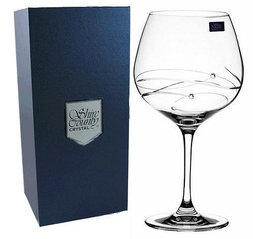 Shire County Crystal Diamond | Cut Copa Gin Ft Diamante |Gift Carton