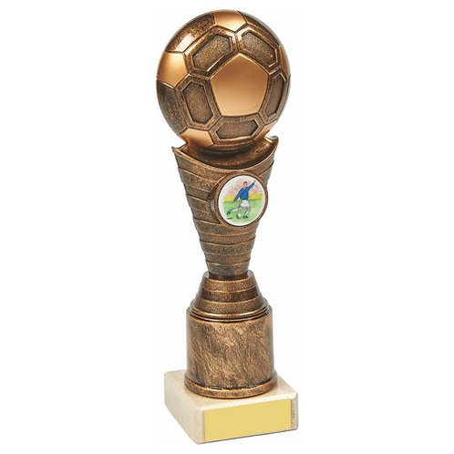 Antique Gold Football Trophy - 210mm
