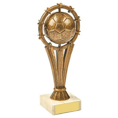 Antique Gold Spinning Football Trophy - 185mm