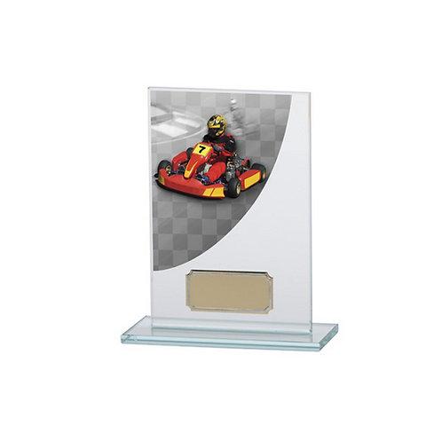 Colour Curve Go-Kart Jade Glass Award - 140mm
