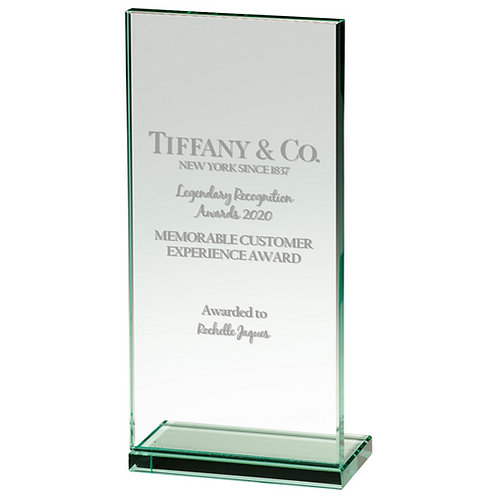 Austin Jade Glass Award - 215mm