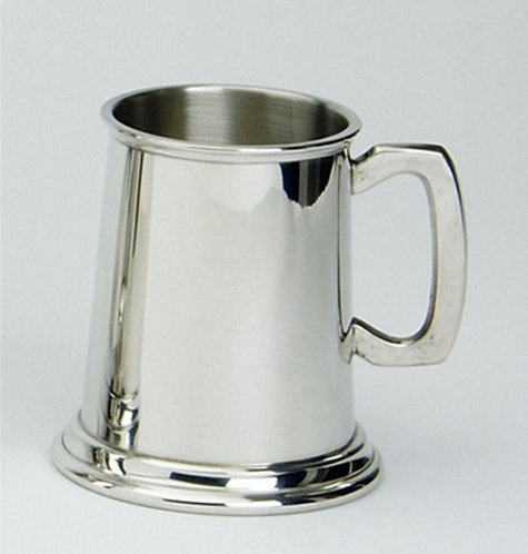 Tankard | Half Pint | Bright Polished | Sheffield Pewter | Free Engraving