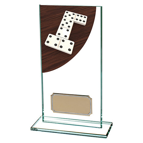 Colour Curve Dominoes Jade Glass Award - 160mm