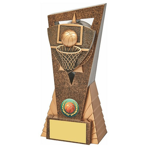 Antique Gold Basketball Edge Trophy - 180mm