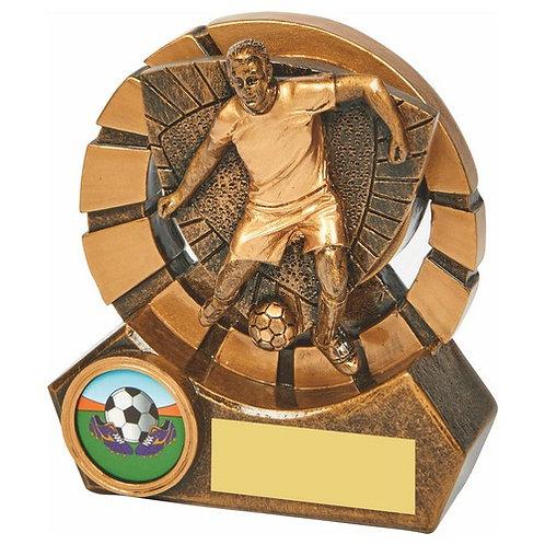 Antique Gold Male Footballer Resin - 100mm
