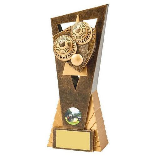 Antique Gold Lawn Bowls Edge Award - 210mm