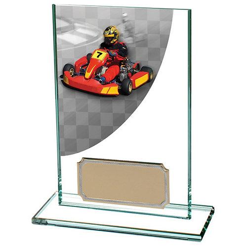 Colour Curve Go-Kart Jade Glass Award - 125mm